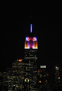 Alicia Keys LED Lighting Empire State Building