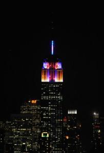 Alicia Keys LED Lighting Empire State Building