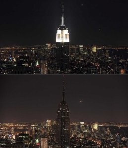 Empire State Building Earth Hour