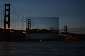 Golden Gate Bridge Earth Hour